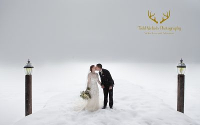 Snowy Destination Mountain Wedding   Shore Lodge, McCall Idaho
