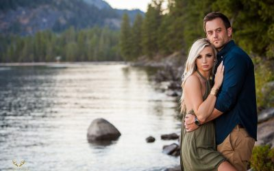 Emily +  Brian | Shore Lodge, McCall Idaho Engagement Session